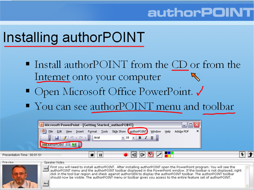 Presentation Recording or Capture in authorPOINT
